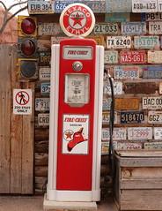 Fire Chief Pump (Jay Costello) Tags: red utah ut pump moab gasoline texaco gaspump firechief firemanshat