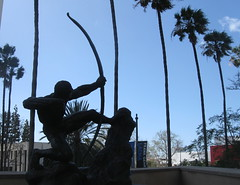 Shooting stars in Los Angeles (rasputina2) Tags: county sculpture art museum garden losangeles archer lacma bowandarrow