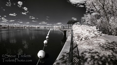 Belvdre - Parc Nature de l'ile de la visitation - IR (Steve Troletti Nature & Wildlife Photographer) Tags: park canada nature water station electric river ir back nikon view quebec outdoor barrels dam montreal central wide hydro electricity infrared parc 65mm opteka fullspectrum infrarouge montrealnord rivieresdesprairies montrealnorth d300s