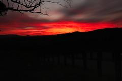 Fiery sunset (Farhat M) Tags: sunset mountains nature clouds canon landscape glow tranquility australia victoria cliffs 1635mm 70d