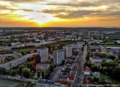 Koszalin 750 years! (megashadowed) Tags: sunset kite evening town center aerial kap pomorze koszalin