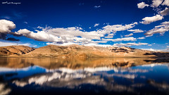 Nature is home (Karteek Sivagouni) Tags: blue sky reflection love home nature beauty clouds reflections mirror is angle wide scenic leh effect ladakh tsumori ladak karteek sivagouni karteeksivagouni