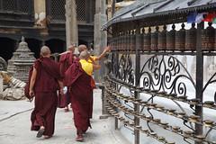 Monks (Mark S Weaver) Tags: kathmandu nepa