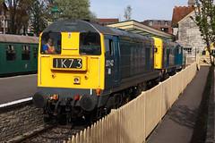 20142 + 20205 Swanage (daveymills31294) Tags: diesel railway class 20 gala swanage 2016 20205 20142