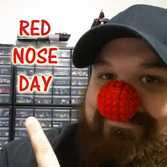 What's With The Nose? (cmaddison) Tags: red toy nose lego clown sphere selfie