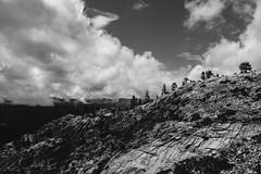 High Sierra (alvey_ski) Tags: red blackandwhite black monochrome clouds contrast analog sierra filter fujifilm sierranevada filmgrain digitalfilm tahoenationalforest explorecalifornia