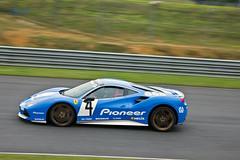 488 Pioneer (AureilFerrari) Tags: auto blue car canon automobile automotive voiture bleu coche wagen azzuro 100400 worldcars aureil 488gtb