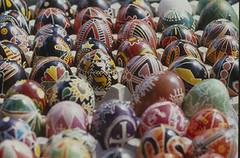 Pysanky Eggs (Penn State Special Collections Library) Tags: art festival pennstate handpainted eggs pysanky