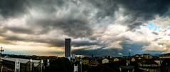 Daily storm is ready (alessiochiolo) Tags: city light sunset sky urban italy panorama cloud storm building nature colors rain weather skyline architecture clouds skyscraper buildings dark point torino photography grey design spring high amazing cool italian italia nuvole day cityscape grigio view wind cloudy earth wide bad arc panoramic line roofs smartphone cielo turin pioggia beatiful vento citt cityview tempesta