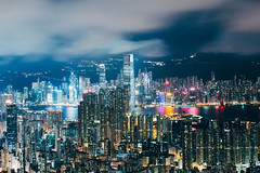 Victoria (AlberTsoi Photography) Tags: light hk building architecture night cityscape  hongkong victoriaharbour