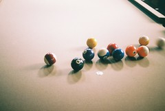 Billiards (still life) (tylerneedham) Tags: game film pool table balls albuquerque billiards