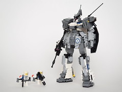 CSA - MK-02A Velites (ExclusivelyPlastic) Tags: design robot lego space military figure scifi mecha mech zeon gelgoog gundamish