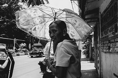 182/365 (Nico Francisco) Tags: street blackandwhite woman umbrella project 365 366