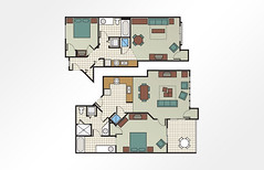 MountainLoft™ 2-Bedroom Combined - 1,360 sq ft