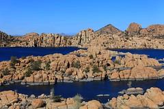 Watson Lake and Granite Dells (~ Ron ~) Tags: arizona lake water canon reservoir northernarizona prescott watsonlake wow1 submergedrocks granitedells hardwickimages partiallysubmergedrocks
