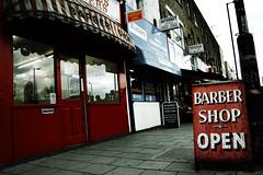 (jordi.martorell) Tags: street uk urban london sign shop geotagged nikon barbershop barber guessed guesswherelondon 1855mmf3556g eastlondon towerhamlets eastindiadock gwl d40 cruzadas nikond40 guessedbylesbailey