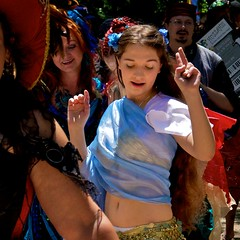 IMG_3464 (heatherbirdtx) Tags: blue girl festival female scarf texas dancing bellydancer dancer parade belly teen faire scarborough renaissance waxahachie isisthestardancers