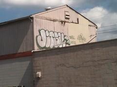 Jitsu Rooftop Throw (JIU x JITSU) Tags: rooftop wall graffiti paint jitsu ninja kentucky tag louisville jiujitsu aerosol bombing krylon rustoleum throwup handstyle throwie rusto jits ironlak americanaccents