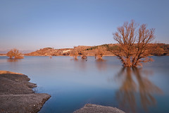 Lake (Nick-K (Nikos Koutoulas)) Tags: trees sunset lake tree water greece    kozani