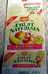 1991 Del Monte Fruit Naturals W/ ALVIN THE CHIPMUNK (mankatt) Tags: food fruit del yo retro cups packaging 1991 monte alvin chipmunks naturals
