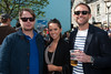 Martin AArestad, Aoife Mangan and Adam Littler pictured enjoying the Coors Light Live in the Latin Quarter Weekend outside the Townhouse on Sunday afternoon. Photo: Reg Gordon