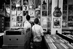 Stigmate Records In Geneva (maxcady808) Tags: blackandwhite bw music white black records film shop switzerland fuji geneva guitar digging vinyl collection contax albums 35mmfilm g2 neopan recordshop djformat 400iso contaxg2 thesimonsound stigmaterecords