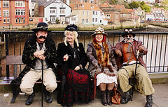 Whitby Goth Weekend 21 (Beachcomber ( By The Bay )) Tags: people beach monochrome festival female photoshop canon photography mono coast seaside interesting north goth 19thcentury perspective victorian steam coastal corset coastline popular northeast seashore period edwardian fascinating powered steampunk northeastcoast bythesea calmsea seasides whitbygothweekend coastallife 450d canoneos450d photoshopelements80 beachcomberbythebay