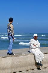 The old man and the kid (RodaLarga) Tags: lumix morocco casablanca lx5
