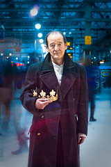 David Hayman as King Lear (TGKW) Tags: portrait people man motion david blur station movement king theatre glasgow coat hill central shakespeare actor hayman crown dominic citizens lear 4090
