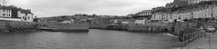 Porthleven Panorama BW (JmGpHoToS) Tags: uk panorama cornwall porthleven