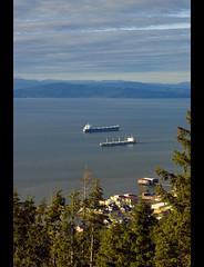 Two Ships (The Surveyor) Tags: two oregon river coast view top or ships columbia astoria column