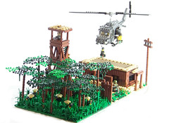 "'Nam Scene Contest - ""All Along the Watchtower"" (Silenced_pp7) Tags: usa brick tower america arms lego fig watch mini vietnam barf huey viet bunker prototype jungle minifig minifigs custom citizen vignette figs m16 nam watchtower proto browning moc barrack vietcong cong protos minifigures allalongthewatchtower brickarms usaamerican toywiz brickarm figbarf citizenbrick vietnamcontest namscenecontest namcontest"