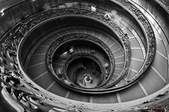 Vatican Double Helix (country_boy_shane) Tags: vacation italy history up architecture stairs spiral photography italian interiors down tourists stairway vaticanmuseum doublehelix downward spiraling canon40d sigma10mmf28exdchsmfisheye shanegorski