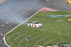 The #28 goes for a wild ride! (monkey1611) Tags: chevrolet racetrack race racecar truck northcarolina racing chevy nascar series 28 silverado 2012 racecars racetruck charlottemotorspeedway campingworld truckseries campingworldtruckseries