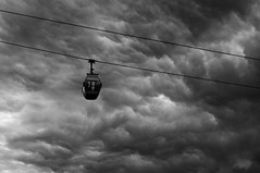 Escape way (Talliebally - on & off) Tags: bw clouds threatening transport cable fave tempest thunder cableway kabelbaan floriade2012 talithahoppe