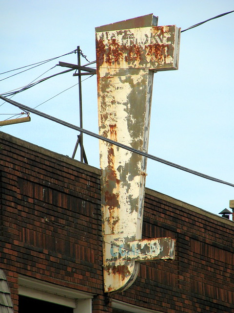 Faded neon sign - Roanoke, VA