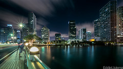 Miami (Eddie 11uisma) Tags: bridge night canon landscape key long exposure downtown cityscape miami mark iii 5d f2 afterdark brickell 1735mm