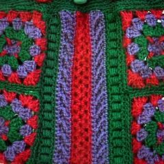 Symmetry granny squares: close up (Kiwi Little Things) Tags: crochet handbag grannysquares