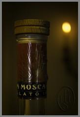 Grappa di Moscato d'Asti (105) (PHH Sykes) Tags: bottle candle cork alcohol di grappa moscato dasti monovitigno