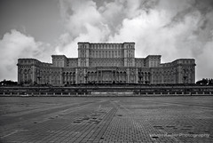 Palace of Parliament, Bucharest (fesign) Tags: bw building architecture parliament palace romania bucharest regime bukarest heaviest administrative ceauescu mostexpensive guinnessbookworldrecords