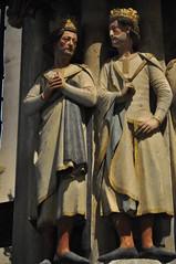 Burgos (Catedral). Claustro alto. Esquina noroeste. Los cuatro príncipes coronados. detalle (santi abella) Tags: burgos gótico catedraldeburgos claustros