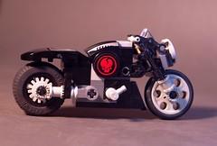 Hell Razor (lego911) Tags: auto bike skull model lego motorbike chrome motorcycle cruiser challenge racer lugnuts 8371 moc 55th miniland hellrazor lego911 dromeracer extremepowerbike