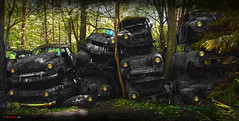 The Walking Dead (bent inge) Tags: classic cars rust forrest sweden beetle rusty wv forgotten bulbs sverige resting wreck spruce skrot carcemetery walkingdead bilvrak bstns nikond700 bilkirkegrd kulturhistorie bentingeask trckfors brdreneivansson