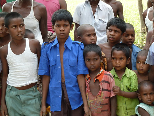 Adivasi children, Dinajpur district, Bangladesh. Photo by Anne Delaporte, 2012.