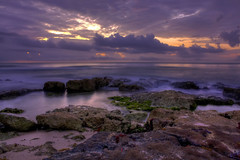 The Colors of Dawn (Robby Ryke) Tags: ocean beautiful sunrise mexico rocks gulf mothernature colorsofdawn