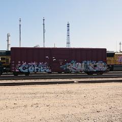 COKE SMASH (TRUE 2 DEATH) Tags: railroad train graffiti smash tag graf coke trains railcar network spraypaint railways railfan freight freighttrain dtt rollingstock benching freighttraingraffiti riptoys