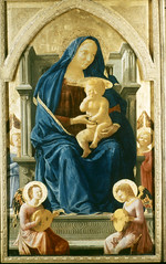Madonna Enthroned (Ellis Art History) Tags: wood london religious italian nationalgallery renaissance masaccio 15thcentury quattrocento italianrenaissance madonnaenthroned ellisarthistory