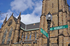 4 COTC location signs 20140316_0114b (Charlene E. James) Tags: boston churchofthecovenant nationalhistoriclandmark tiffanywindows tiffanyinterior
