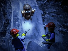 The Discovery (grzegorz.s) Tags: ice monster toy frozen lego olympus cave yeti 45mm