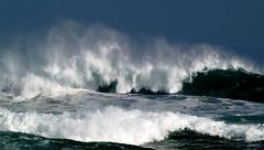 wave action #2 (bushman58929) Tags: ocean travel sea beach water waves australia bigwaves seaspray gunnamatta